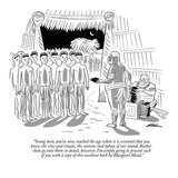 """Young men, you've now reached the age when it is essential that you know …"" - New Yorker Cartoon Premium Giclee Print by Unknown Alain"