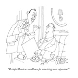 """Perhaps Monsieur would care for something more expensive"" - New Yorker Cartoon Premium Giclee Print by Gahan Wilson"