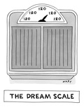 Scale has only '120 lbs.' as possible weight. - Cartoon Regular Giclee Print by Kim Warp
