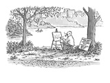 Watch over artist's shoulder:  50¢; Chat with artist:  $1.00' - Cartoon Regular Giclee Print by John Jonik