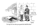 """It creeps me out when you squeak the chalk like that."" - New Yorker Cartoon Premium Giclee Print by John Klossner"
