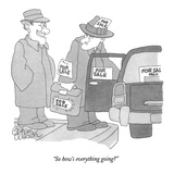 """So how's everything going"" - New Yorker Cartoon Premium Giclee Print by Gahan Wilson"