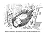 """It wasn't the airplanes. 'Twas all these goddam cupcake places killed the…"" - New Yorker Cartoon Premium Giclee Print by Joe Dator"