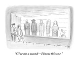"""Give me a second—I know this one."" - New Yorker Cartoon Premium Giclee Print by Paul Noth"
