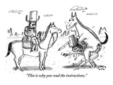 """This is why you read the instructions."" - New Yorker Cartoon Premium Giclee Print by Farley Katz"