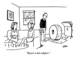 """Ryan's a late adopter."" - New Yorker Cartoon Premium Giclee Print by Ward Sutton"