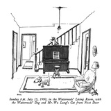 Sunday P.M.  July 15, 1990, in the Watternods' Living Room, with the Watte… - New Yorker Cartoon Premium Giclee Print by George Booth