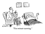 """Two-minute warning."" - New Yorker Cartoon Premium Giclee Print by Mike Twohy"