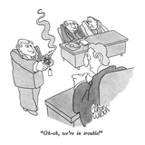 """Oh-oh, we're in trouble!"" - New Yorker Cartoon Premium Giclee Print by Gahan Wilson"