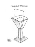 Takeout Martini - New Yorker Cartoon Premium Giclee Print by John Kane