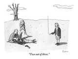 """Two out of three."" - New Yorker Cartoon Premium Giclee Print by Zachary Kanin"
