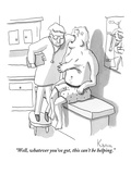 """Well, whatever you've got, this can't be helping."" - New Yorker Cartoon Premium Giclee Print by Zachary Kanin"