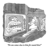 """No one comes close to him for sound bites!"" - New Yorker Cartoon Premium Giclee Print by Gahan Wilson"