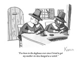 """I've been in the doghouse ever since I tried to get my mother-in-law hang…"" - New Yorker Cartoon Premium Giclee Print by Zachary Kanin"