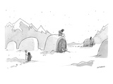 Cavemen shoveling out their woolly mammoths, in the same way that modern d… - New Yorker Cartoon Premium Giclee Print by Jason Patterson