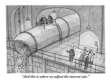 """And this is where we adjust the interest rate."" - New Yorker Cartoon Premium Giclee Print by Jason Patterson"