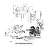 """New York is a place of free spirits."" - New Yorker Cartoon Premium Giclee Print by George Booth"