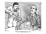 """It won't happen again, sir."" - New Yorker Cartoon Premium Giclee Print by Rob Esmay"