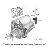 """I thought 'viola da gamba' and then, of course, I thought of you."" - New Yorker Cartoon Premium Giclee Print by Victoria Roberts"
