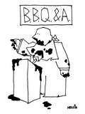 B.B.Q & A. - New Yorker Cartoon Premium Giclee Print by Ariel Molvig