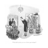 """This little jacket got out of Paris just in time."" - New Yorker Cartoon Premium Giclee Print by Helen E. Hokinson"