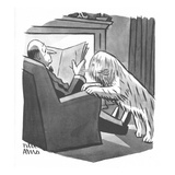 Sheepdog dog brings his master a pair of shears. - New Yorker Cartoon Premium Giclee Print by Peter Arno
