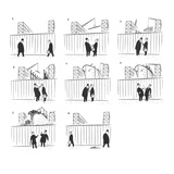 A couple of men stop outside a shipyard to smoke a cigarette and chat. Dur… - New Yorker Cartoon Giclee Print by  Alain