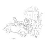"""Ouch!"" - New Yorker Cartoon Premium Giclee Print by Richard Decker"