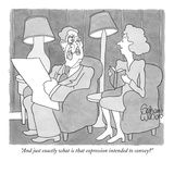"""And just exactly what is that expression intended to convey"" - New Yorker Cartoon Premium Giclee Print by Gahan Wilson"