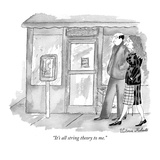 """It's all string theory to me."" - New Yorker Cartoon Premium Giclee Print by Victoria Roberts"