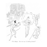&quot;No charge. Just our way of making friends.&quot; - New Yorker Cartoon Premium Giclee Print by Ned Hilton