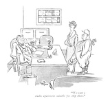 """We want a studio apartment suitable for chip shots."" - New Yorker Cartoon Premium Giclee Print by George Price"