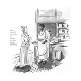 """Now, Victoria, I'm going to initiate you into moules marinière."" - New Yorker Cartoon Premium Giclee Print by Helen E. Hokinson"