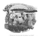 """What does 'la sole au plat Rochellaise' taste like"" - New Yorker Cartoon Premium Giclee Print by Helen E. Hokinson"
