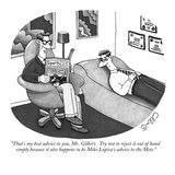 """That's my best advice to you, Mr. Gilbert.  Try not to reject it out of h…"" - New Yorker Cartoon Reproduction giclée Premium par J.C. Duffy"