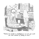 """Surely two people as intelligent as  we are can work out some method of f…"" - New Yorker Cartoon Premium Giclee Print by Gahan Wilson"
