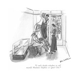"""I can't decide whether to call myself Madame Daphne or Quel Chic."" - New Yorker Cartoon Premium Giclee Print by Helen E. Hokinson"