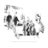 """We can't ask him to take it down if it's his mother."" - New Yorker Cartoon Premium Giclee Print by Ned Hilton"