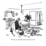"""I'm not in a breakfast-fixing mood just now."" - New Yorker Cartoon Premium Giclee Print by George Booth"