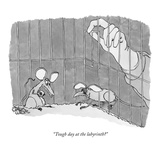 """Tough day at the labyrinth"" - New Yorker Cartoon Premium Giclee Print by Gahan Wilson"