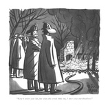 """Keep it under your hat, but when this crowd thins out, I have some marshm…"" - New Yorker Cartoon Premium Giclee Print by Peter Arno"