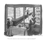 """You folks mind if we leave this here a couple of minutes"" - New Yorker Cartoon Premium Giclee Print by Robert J. Day"