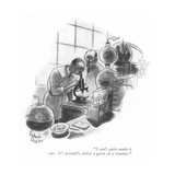 """I can't quite make it out. It's probably either a germ or a vitamin."" - New Yorker Cartoon Premium Giclee Print by Richard Decker"
