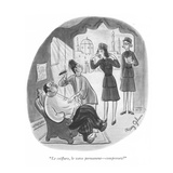 """Le coiffure, le wave permanent—comprenez"" - New Yorker Cartoon Premium Giclee Print by Mary Gibson"
