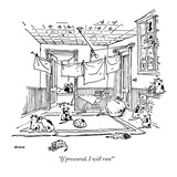 """""""If pressured, I will run!"""" - New Yorker Cartoon Giclee Print by George Booth"""