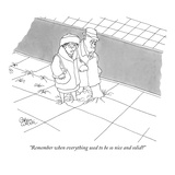 """Remember when everything used to be so nice and solid"" - New Yorker Cartoon Premium Giclee Print by Gahan Wilson"