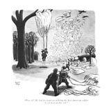 """Poor Al! He had his heart set on being the first American soldier to set f…"" - New Yorker Cartoon Premium Giclee Print by Robert J. Day"