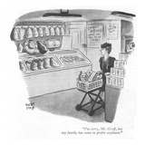 """I'm sorry, Mr. Groff, but my family has come to prefer soybeans."" - New Yorker Cartoon Premium Giclee Print by Robert J. Day"