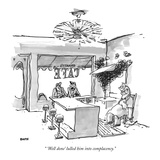 """ 'Well done' lulled him into complacency."" - New Yorker Cartoon Premium Giclee Print by George Booth"