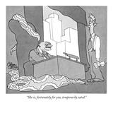 """She is, fortunately for you, temporarily sated."" - New Yorker Cartoon Premium Giclee Print by Gahan Wilson"